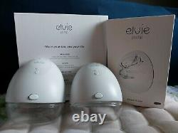 Double Elvie breast pumps + 3 extra breast shields+ many accessories (bags+pads)