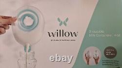 Lightly Used Willow Breastpump 3rd Gen 27mm size + Reusable Containers + Bags