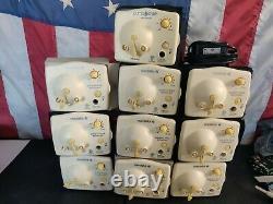 Lot Of 10 Medela 9V Breast Pump in Style Advanced Motors -Tested