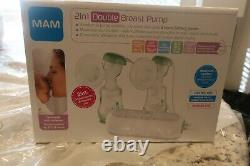 MAM Double 2-in-1 Electric & Manual Breast Pump
