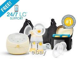 Medela Sonata Smart Double Electric Breast Pump w Personal Fit Flex Shields NEW