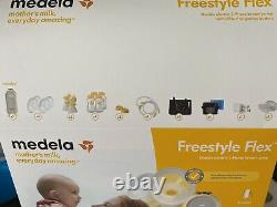 Medela freestyle flex double electric breast pump. Used Once. Most Still Boxed