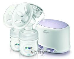 Phillips AVENT Double Electric Comfort Breast Pump Breast Feeding Kit Portable