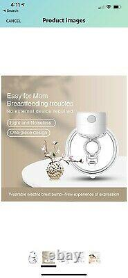 S12 Wearable Single Electric Breast Pump Smart Small Silent Hands Free NEW