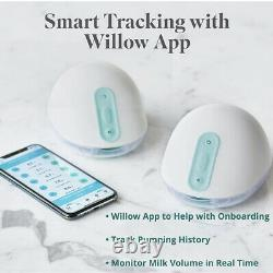 Willow 24mm 3rd Generation Breast Pump White Free Shipping